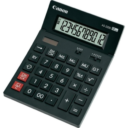 Kalkulačka Canon AS-1200, černá