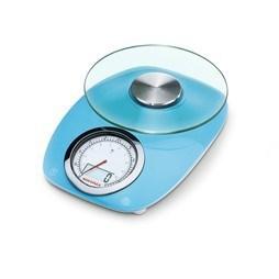 Kuchyňská váha Leifheit Vintage Style modrá