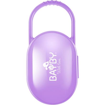 Pouzdro na dudlík fialové BAYBY BBA 6400