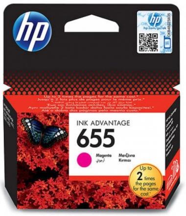 Inkoustová náplň HP No. 655, 600 stran originální - červená