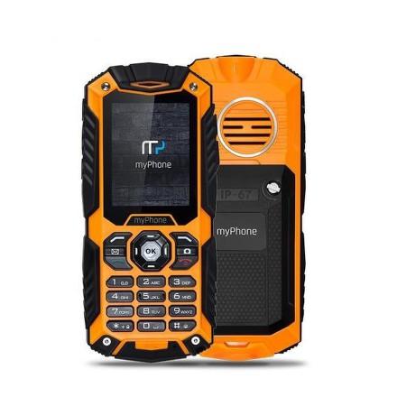 myPhone HAMMER PLUS Dual SIM - černý/oranžový